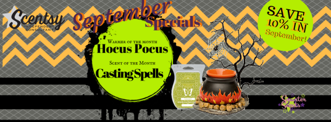 Scentsy's September, 2016 Warmer & Scent of the Month!