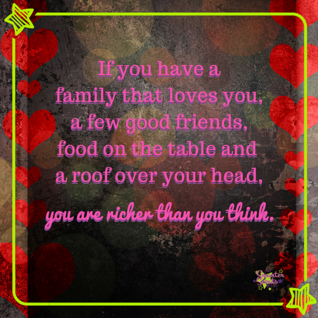You are richer than you think!